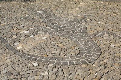 Mosaik mit Salamander