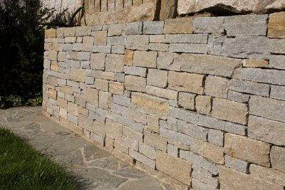 Trockenmauer im Gartenbau